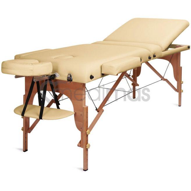 Stół do masażu składany - drewniany 3 sekcje Prosport3 Deluxe