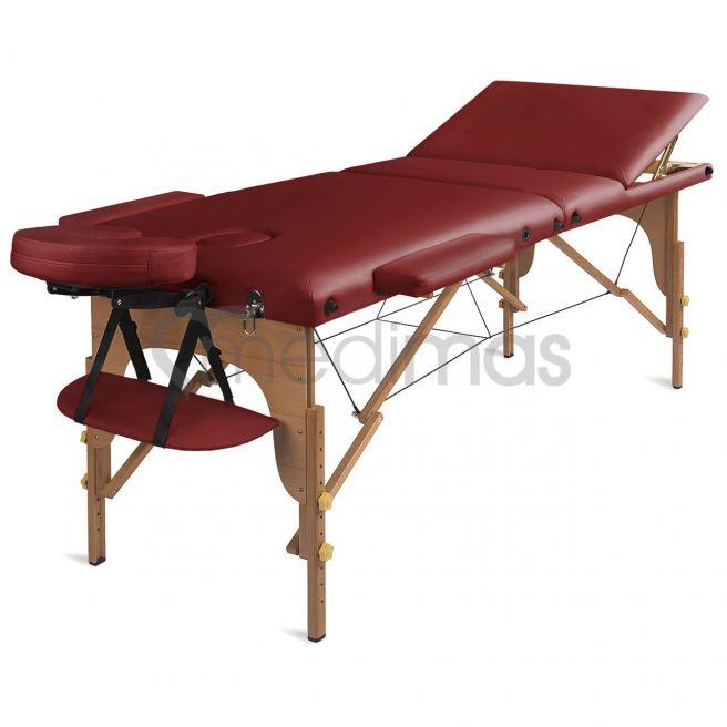 Stół do masażu składany - drewniany 3 sekcje Prosport3