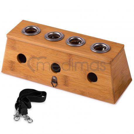 Bambusowe pudełko, uchwyt na cztery moksy